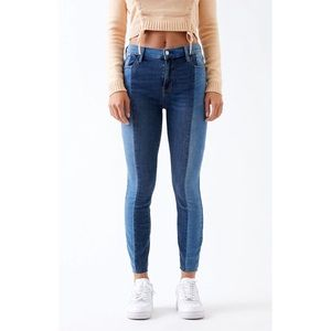 Pacsun High-Rise Ankle Jegging Jeans TwoTone Denim